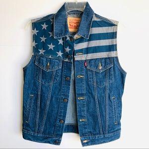 Levi's American Flag Denim Vest